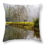 Willow Tree At The Pond Throw Pillow