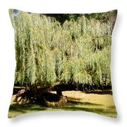 Willow Tree With Job Verse Throw Pillow