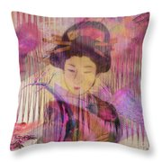 Willow World - Square Version Throw Pillow