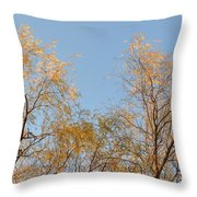 Willows And Sky Throw Pillow
