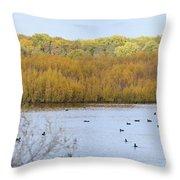 Willows Of October Throw Pillow