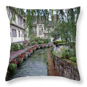 Willows Over The River Throw Pillow