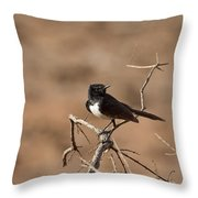 Willy Wagtail V7 Throw Pillow