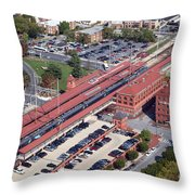 Wilmington Amtrak Throw Pillow