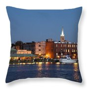 Wilmington At Night Throw Pillow