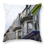 Wilmington Houses Throw Pillow