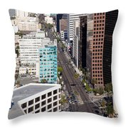 Wilshire Blvd Los Angeles California Throw Pillow