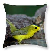 Wilsons Warbler Wilsonia Pusilla Throw Pillow