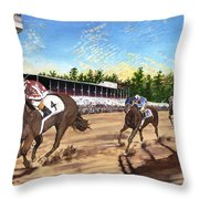 Win Place Show Throw Pillow