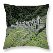 Winay Wayna Inca Trail Peru Throw Pillow