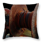 Winch - Cable - Crank - Boats Throw Pillow