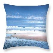 Winchelsea Beach Throw Pillow