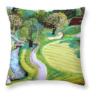 Winchester Country Club IIi Throw Pillow