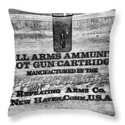Winchester In Black And White Throw Pillow