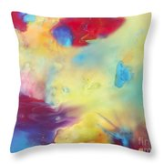 Wind Abstract Painting Throw Pillow