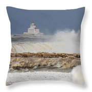 Wind And Ice Throw Pillow