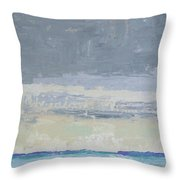 Wind And Rain On The Bay Throw Pillow
