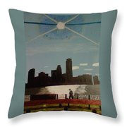 Wind And Spirit In Boston Throw Pillow