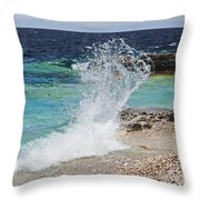 Wind And Waves Throw Pillow