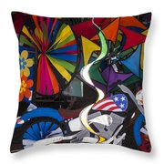Wind Art Throw Pillow