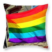 Wind Blown Pride Throw Pillow