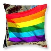 Wind Blown Pride Throw Pillow