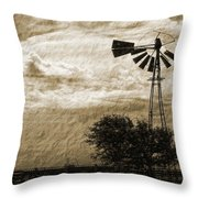 Wind Blown Throw Pillow by Tony Grider