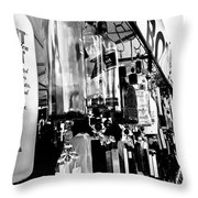 Wind Chime B W Version Throw Pillow
