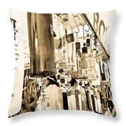 Wind Chime Beige Version Throw Pillow