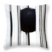 Wind Chime In Black And White Throw Pillow