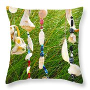 Wind Chimes At The Beach Throw Pillow