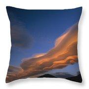 Wind Cloud Over Ben Ohau Range Throw Pillow