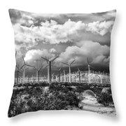 Wind Dancer Palm Springs Throw Pillow