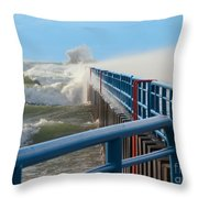 Wind-driven Lake Throw Pillow
