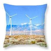 Wind Farm Palm Springs Throw Pillow