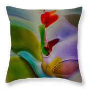 Wind Flower Throw Pillow