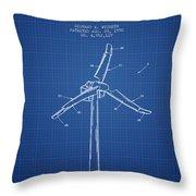 Wind Generator Break Mechanism Patent From 1990 - Blueprint Throw Pillow