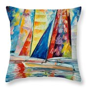 Wind In Sails Throw Pillow