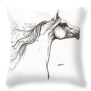 Wind In The Mane 1 Throw Pillow