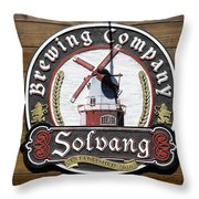 Wind Mill Brewery Sign Throw Pillow