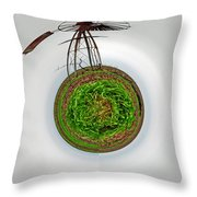 Wind Mill Goes 'round Throw Pillow