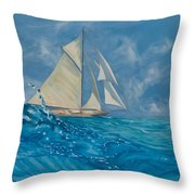 Wind On The Water Throw Pillow