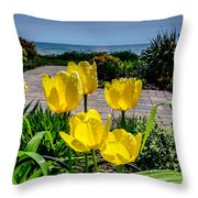 Wind Point Tulips Throw Pillow