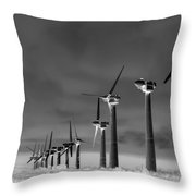 Wind Power Down Throw Pillow by Daniel Hagerman