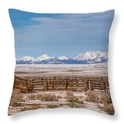 Wind Rivers Throw Pillow