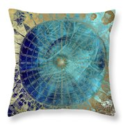 Wind Rose Map Of The Winds Throw Pillow