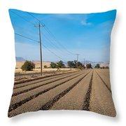 Wind Rows Farm Throw Pillow