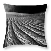 Wind Sand Light And Time Throw Pillow