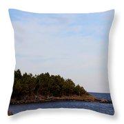 Wind Sculpted Coast Throw Pillow