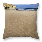 Wind Signals At The Beach Throw Pillow